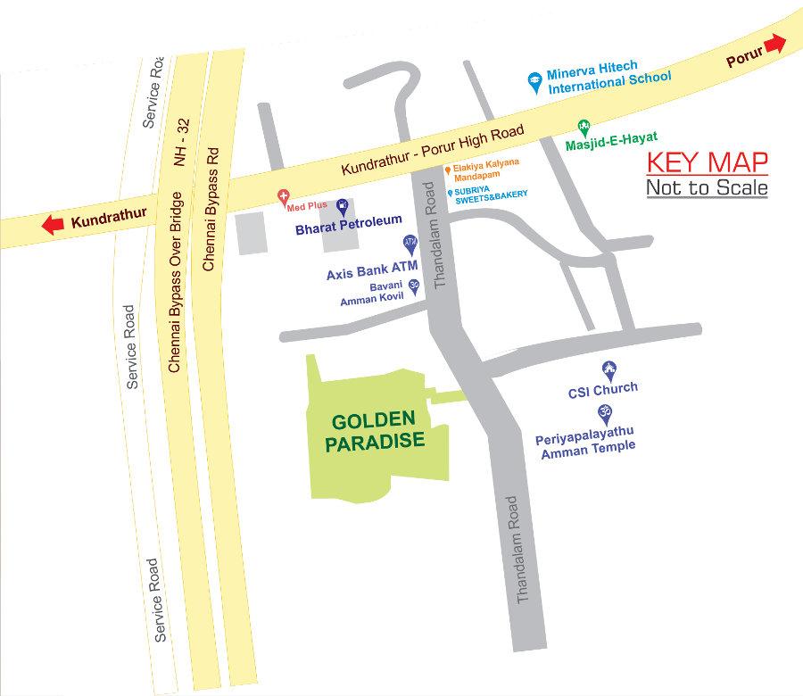 MCP Golden Paradise Gerugambakkam Keyplan