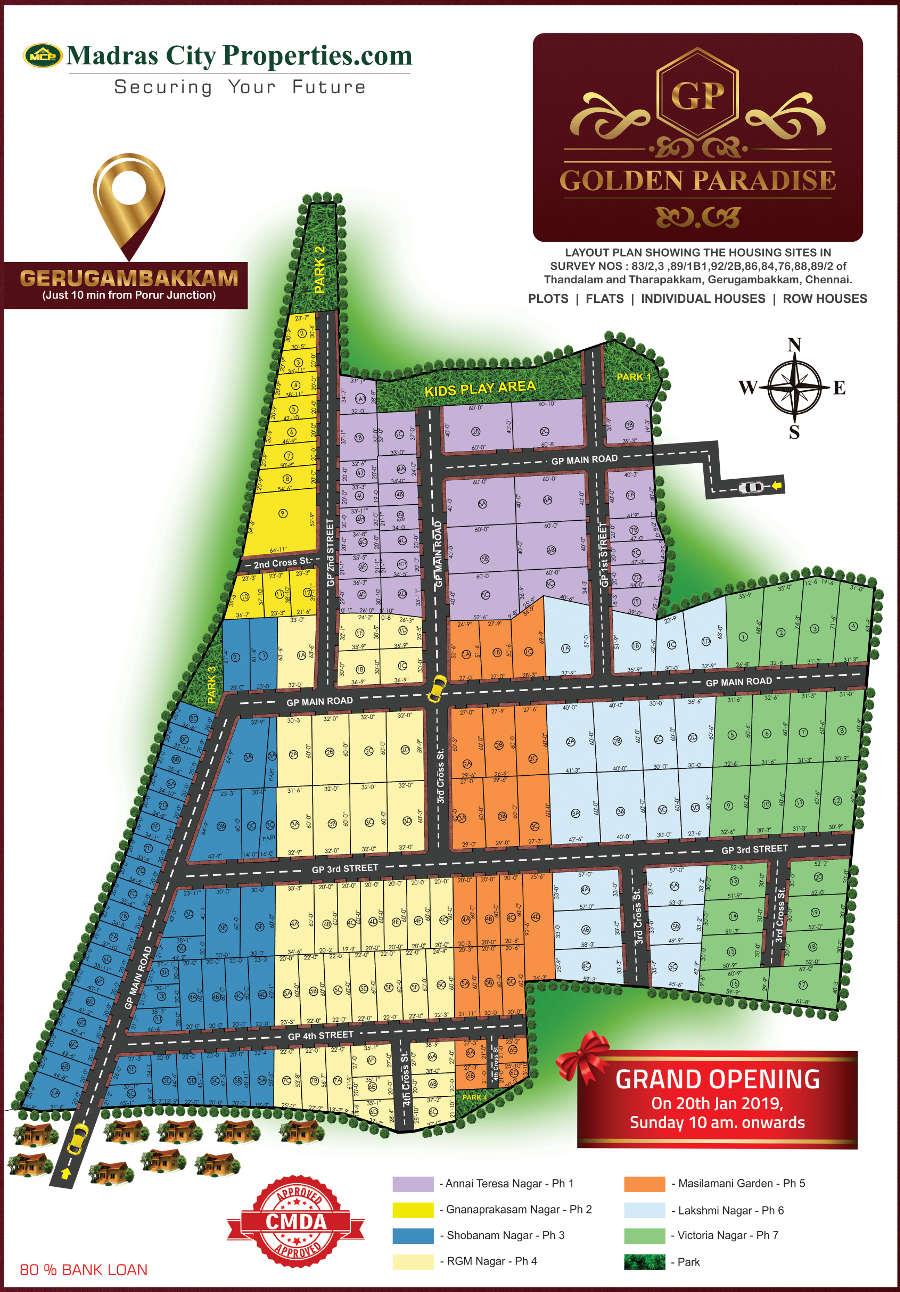 MCP Golden Paradise Gerugambakkam layout